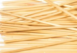 100 x Natural Wheat Drinking Straws (145mm)