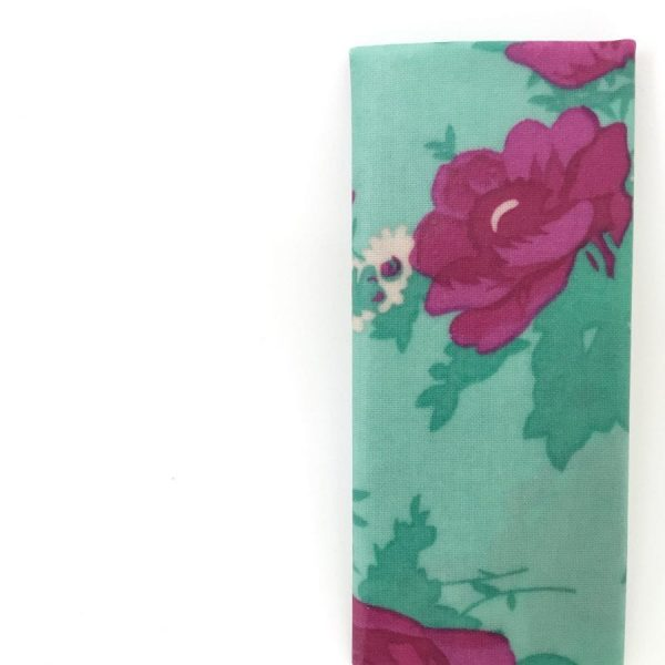 Bee Green Wrap Reusable sandwich wrap Aqua Flowers