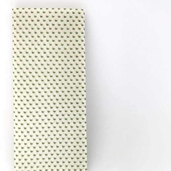 Bee Green Wrap Reusable sandwich wrap Green and white spot