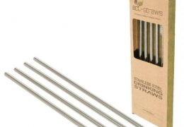 STRAIGHT Stainless Steel Drinking Straws (6mm x 215mm)