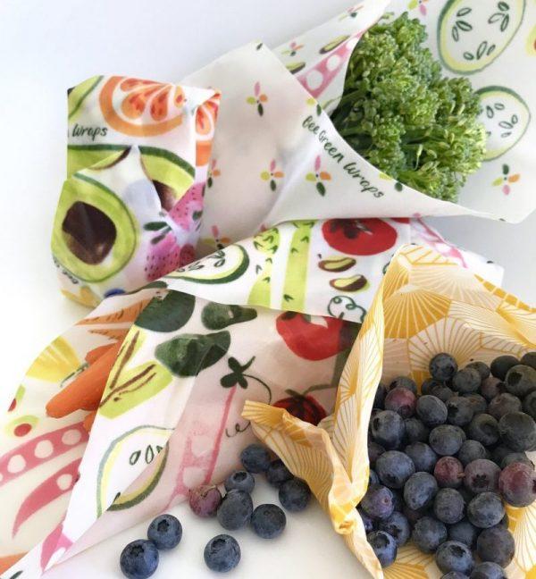 Bee Green Wrap Reusable Sandwich Wraps Lunch Set