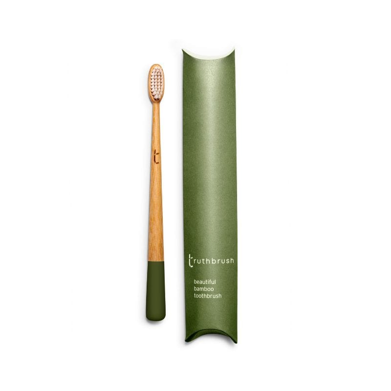 The Truthbrush - NEW Moss Green with Medium Bristles