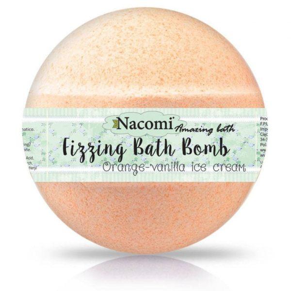 Natural Fizzing Bath Bomb Orange-Vanilla Ice Cream