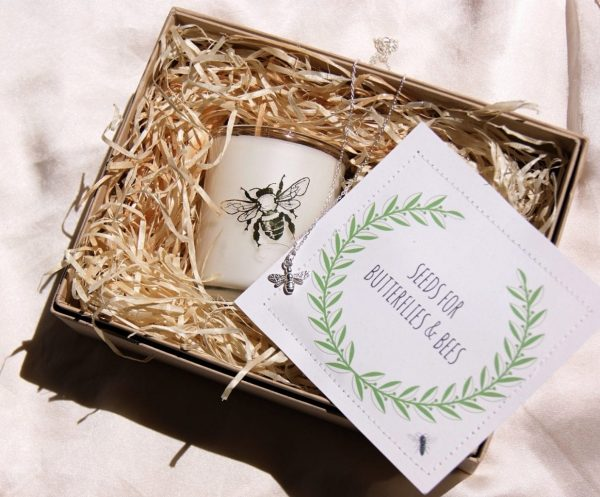 home of juniper bee candle and seeds deluxe bee gift set