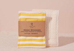 None Sponge (set of 2) Yellow Stripe