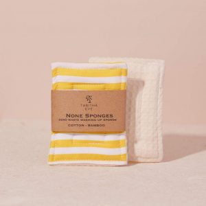 None Sponge (set of 2) Yellow Stripe