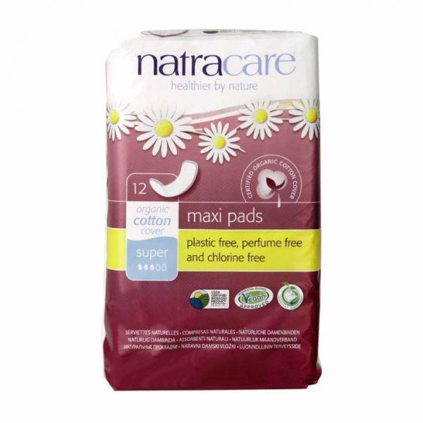 Natracare Natural Maxi Pads - Super (12s)