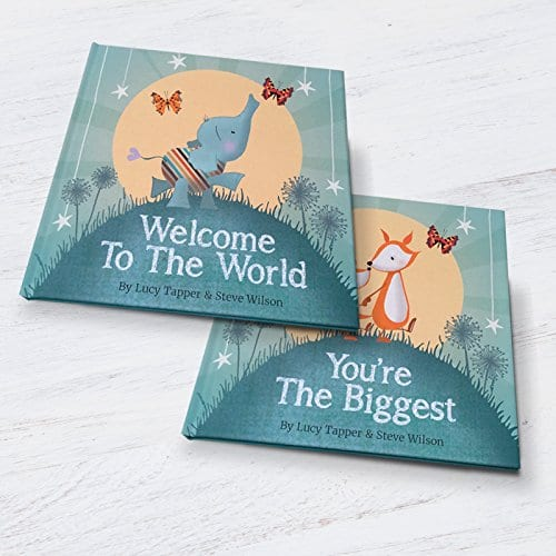 Welcome to the world hardback book for newborn baby keepsake