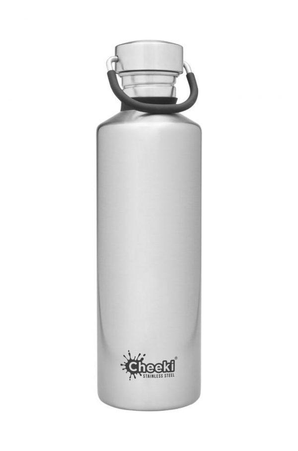 750ml Classic Silver Reusable Water bottle Cheeki