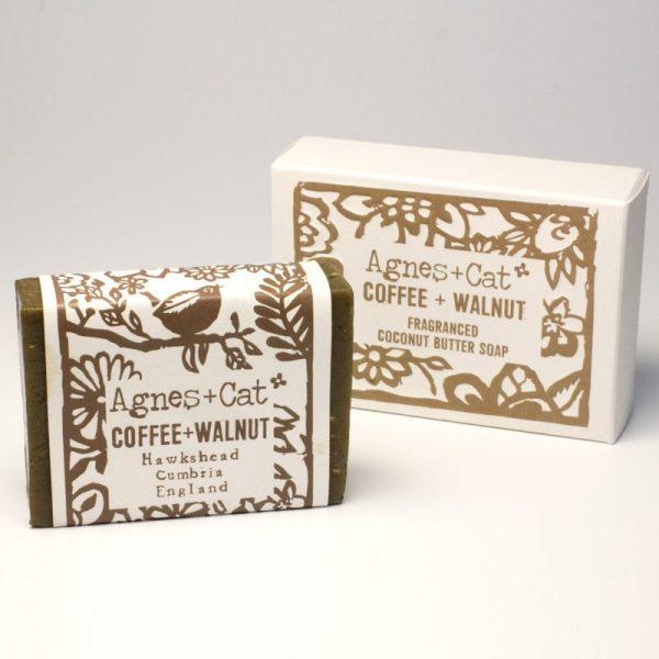 Handmade 140g Coconut Butter Soap - coffee & walnut