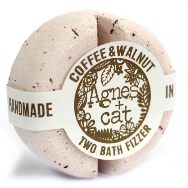 Two Bath Bomb Fizzer by Agnes+Cat Coffee & Walnut
