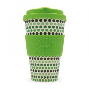 EcoffeeCup 14oz GreenPolka reusable