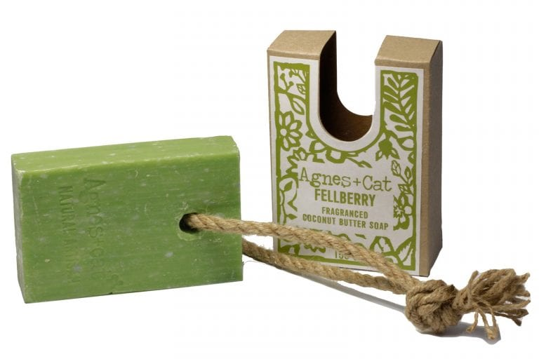 Felberry Soap on a rope