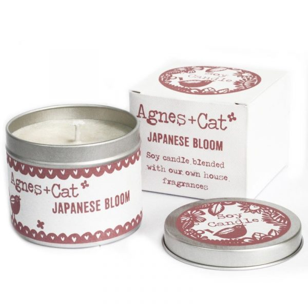 Soy Wax Tin Candle Japanese Bloom