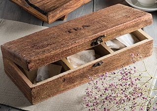 Sustainable Mango Wood Tea Box