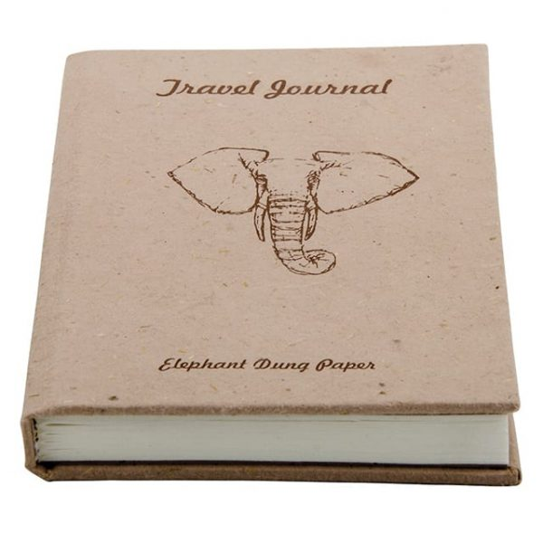 Elephant Dung Handmade Paper Travel Journal