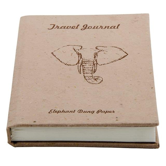 Elephant Dung Handmade Paper Travel Journal