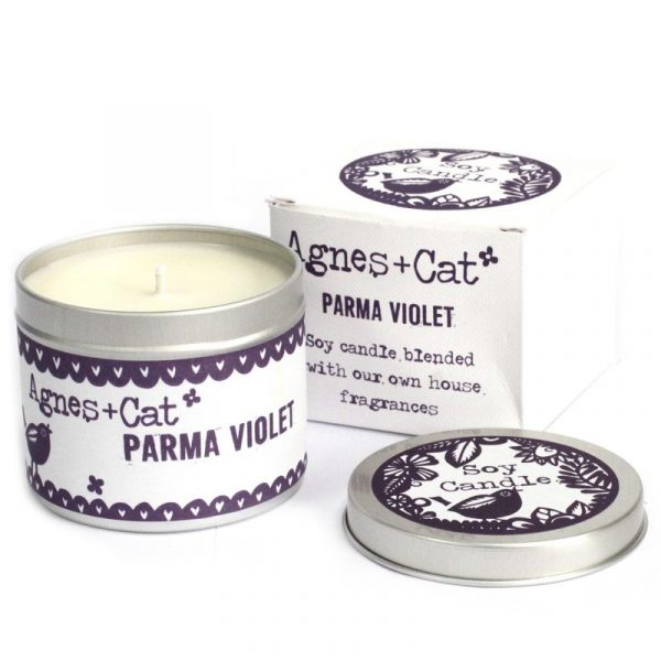 Soy Wax Tin Candle Parma Violet