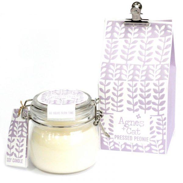 Soy wax candle Kilner Jar Candle - Pressed Peonie