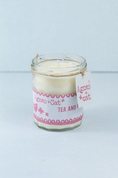 Tea & Roses jam jar candle