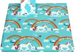 New Baby Unicorns Wrapping Paper by Vicky Scott
