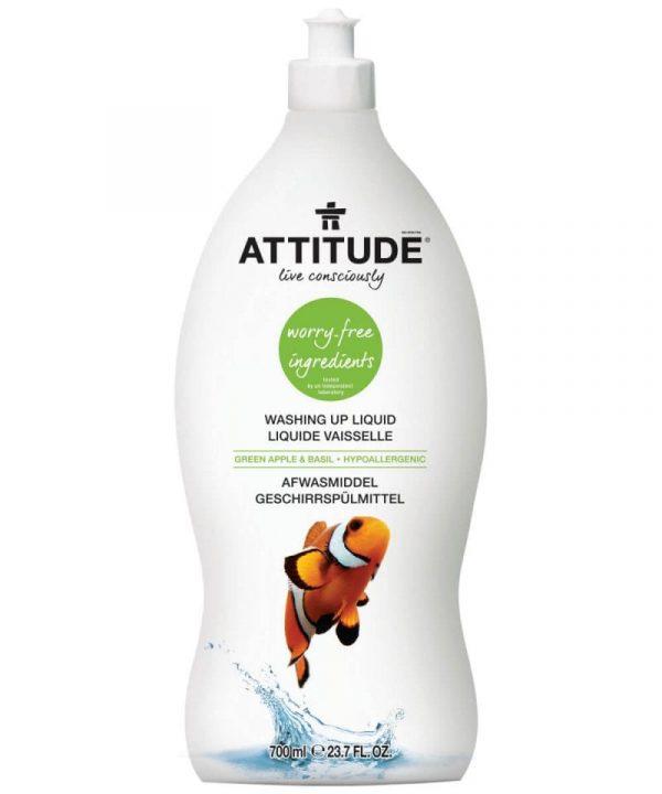 Attitude Green Apple & Basil Washing Up Liquid (700ml)