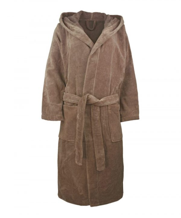 1361 organic cotton velour bath robe