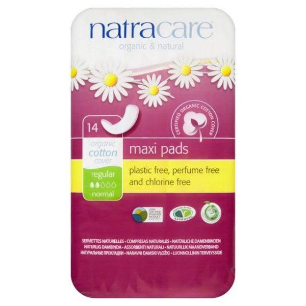 Natracare Organic Cotton Maxi Pads - Regular (Pack of 14)