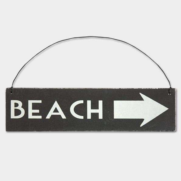 Arrow-Beach Wooden Sign
