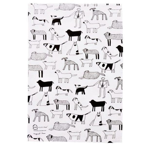 Dogs Tea Towel Full