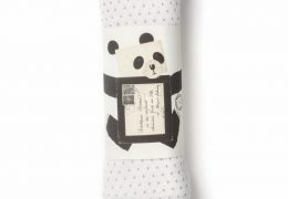 French Grey Kisses organic muslin swaddle
