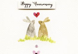Happy Anniversary Bunnies Card