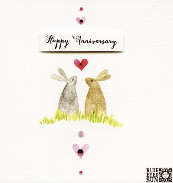 Happy Anniversary Bunnies Card