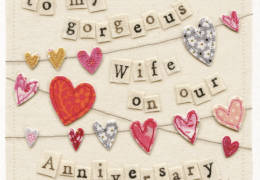Happy Anniversary Gorgeous Wife - Vintage