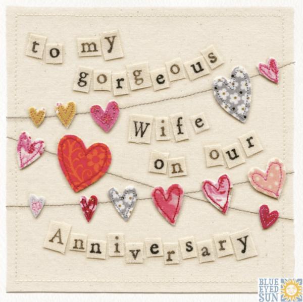 Happy Anniversary Gorgeous Wife - Vintage