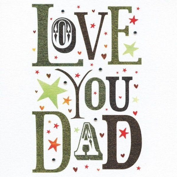 LOVE YOU DAD Fathers Day Card