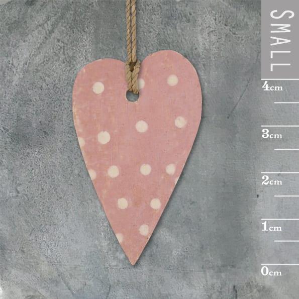 Little long heart-Pink