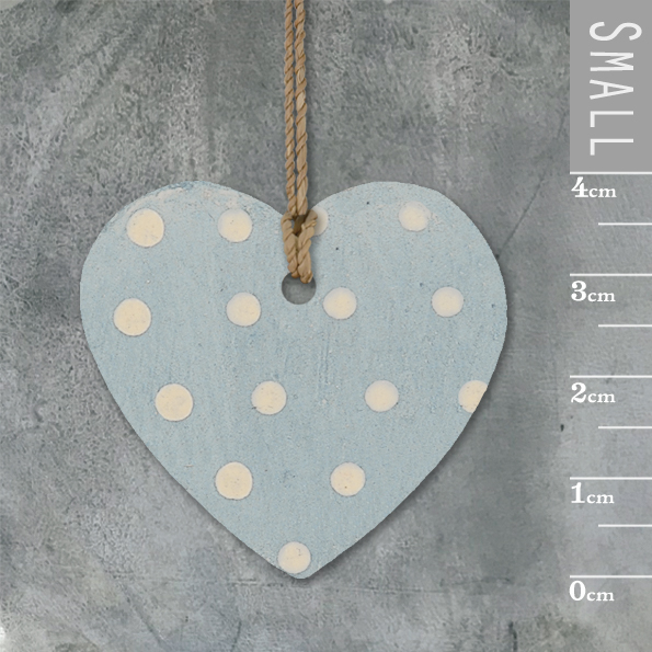 Little round heart-Duck egg blue