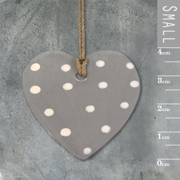 Little round heart-Grey