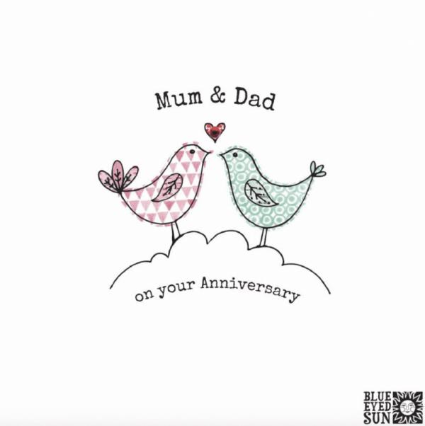 Mum and Dad Anniversary Card