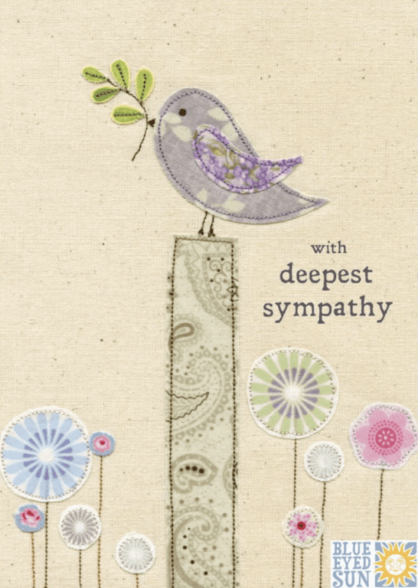 Deepest Sympathy Card - hand finished jewels
