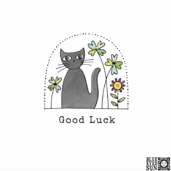 Good Luck Card Black Cat