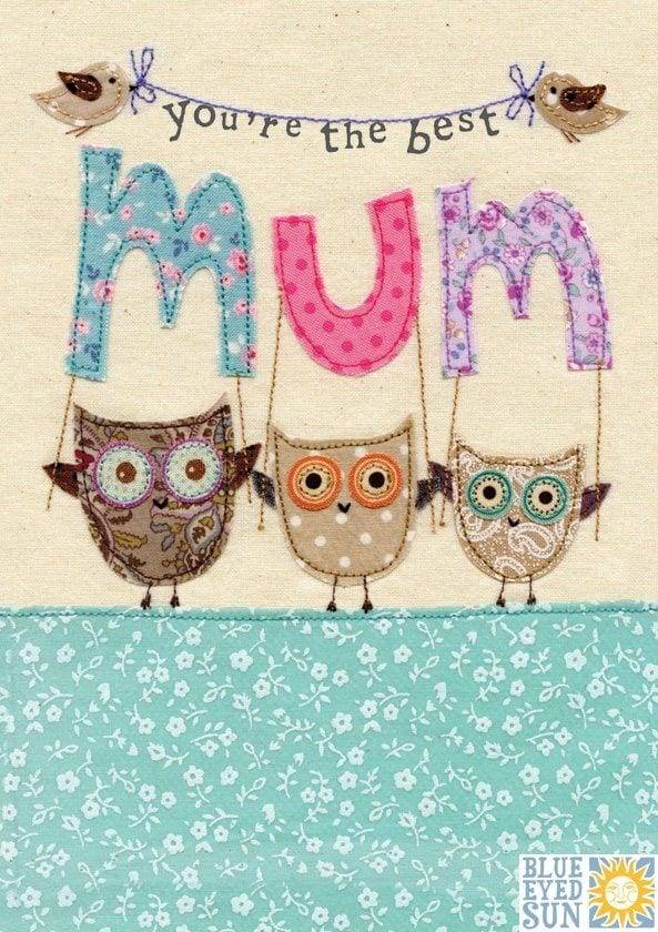 Best Mum Banner Mothers Day Card Olws