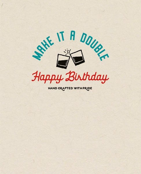 Make it a double birthday card