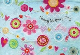 Mother's Day Flower Bunting Mothers Day card