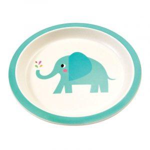 ELVIS THE ELEPHANT BAMBOO Plate
