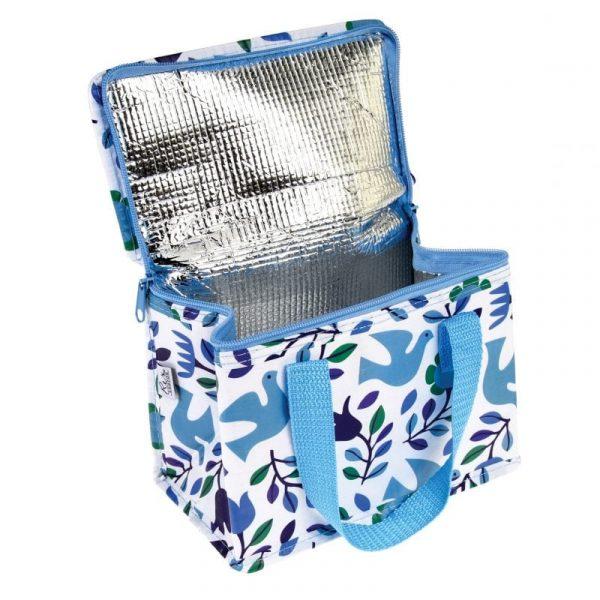 Folk Doves Lunch Bag
