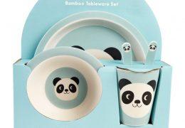 MIKO THE PANDA BAMBOO TABLEWARE (SET OF 5)