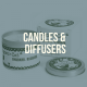 sustainable candles and diffusers
