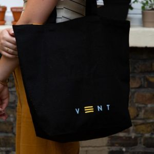 Launch Edition TALK black canvas bag